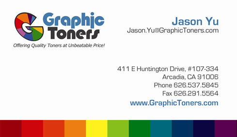 Graphic Toners Business Card
